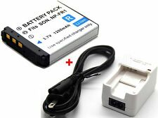 Battery & Charger for Sony Cyber-shot DSC-F88 DSC-G1 DSC-P100 DSC-P120 DSC-P150