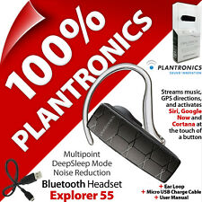 Plantronics Explorer M55 Bluetooth Headset Hands Free Voice iPhone Sony Samsung