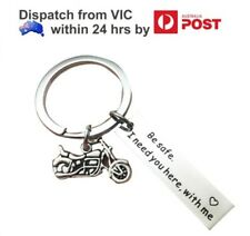Be Safe I need you here with me Motorbike Lover Couples Keyring Keychain Gift
