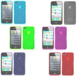 Circles Design TPU Gel Silicone Case Cover For Apple iPhone 4 iPhone 4S