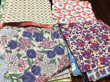 Lot Of 50 Vtg Feed Sack 5� Squares Quilt Blocks Crafts Cotton Fabric