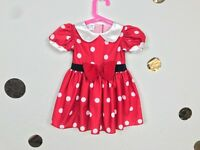 Disney Baby Girl Dress Costume Minnie Mouse Short Sleeve Sz 9M