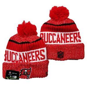 NEW ERA NFL Tampa Bay Buccaneers On field Sideline Beanie Winter Pom Knit Hat