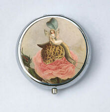 Fairy on Snail and Rose Pill Case pillbox pill holder fairytale