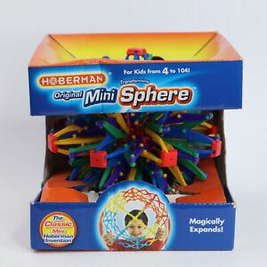 Hoberman Original Mini Sphere Rainbow Expanding Toy Ball M1301