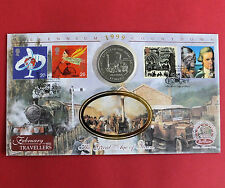 ISLE OF MAN 1998 THE ROCKET STEAM TRAIN PROOFLIKE CROWN - benham coin cover