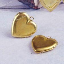 Markenlose Bronze Modeschmuck-Halsketten & -Anhänger im Medaillon-Stil mit Herz