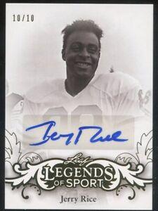 2015 Leaf Legends Of Sport #BA-JR1 Jerry Rice Gold Auto 10/10