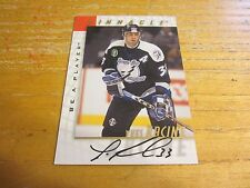 Yves Racine 1997-98 Be A Player Autographs #27 Card NHL Tampa Bay Lightning