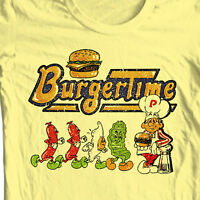 Burger Time T-shirt retro 80's arcade video game vintage 100% cotton graphic tee