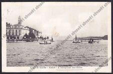 BRESCIA SALÒ 23 SALO' - IDROVOLANTE IDROPLANO - LAGO GARDA Cartolina VIAGG. 1917