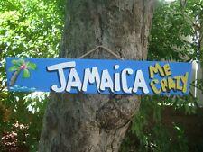 JAMAICA ME CRAZY TROPICAL TIKI HUT BAR POOL PATIO HOT TUB PARROTHEAD SIGN PLAQUE