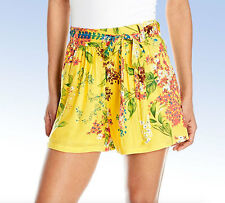 PLENTY by TRACY REESE Belted Floral Shorts - Yellow - Large