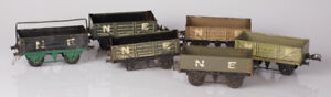 Group of 6 Hornby O Gauge No.1 NE Open Wagons