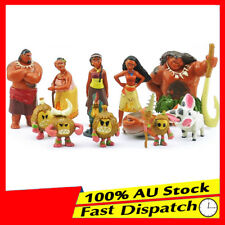 12pcs Moana figurines Cake topper Action Figures Boy Girl KidsToy Set
