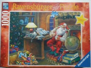 Ravensburger MAPPING THE COURSE Christmas 2013 Limited Ed NEW Santa 1000 Puzzle