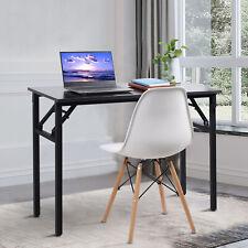 More details for foldable computer desk office study table pc laptop portable workstation home uk