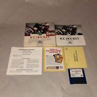UNTESTED Commodore Amiga Game SUPERSTAR ICE HOCKEY, Original Box COMPLETE CIB