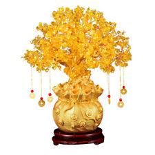 1pc Fashion Bonsai Style Yellow Money Tree Desktop Ornament for Shop Decoration