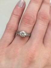 Ladies Engagement Wedding 9CT White Gold Ring With Cubic Zirconia Size L