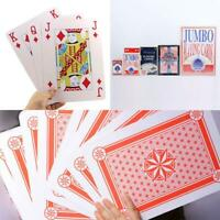 Giant Jumbo Playing Cards Poker Deck Family Fun Game Extra Large Huge Size