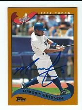Autographed 2002 Topps Marquis Grissom Los Angeles Dodgers card #208