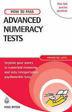 How to Pass Advanced Numeracy Tests, Mike Bryon, Used; Good Book