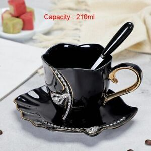 Creative Diamonds Design Coffee Mug 210ML 3D Ceramic Tea Cups Saucers Spoon Set