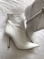 Stunning Zara White Ankle Boots Size 35 Or 2 Never Worn
