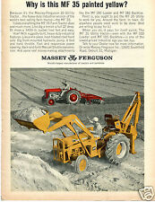 1964 Print Ad of Massey Ferguson MF 35 Utility Tractor 100 Loader 185 Backhoe