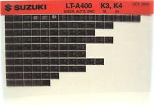 Suzuki LT-A400 Eiger Auto 2WD 2003 2004 Parts Catalog Microfiche s513a