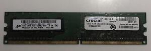 Crucial CT12864AA667.8FJ3 1GB DDR2 PC2-5300U 667MHz DIMM 240-pin BQ111LX.JL