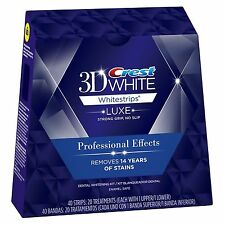 Crest 3D Whitestrips Luxe Professional Effects 40 Strips 20 Pouches (No Box)