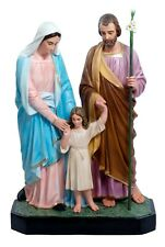 Holy Family Statue made in Fiberglass - 3,54 feet  Eyes Of Glass