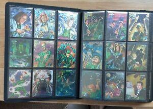 1995 BATMAN FOREVER METAL FULL SET INCLUDING FLASHER SET OVER 200 CARDS