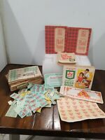 Vintage Lot Stamp Saver Books And Stamps Plaid S&h Wd