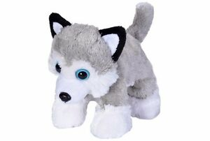 Siberian Husky Dog Hug' Ems Plush Stuffed Soft Toy 18cm/7in by Wild Republic