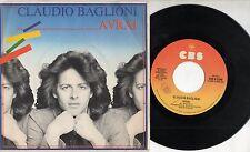 CLAUDIO BAGLIONI disco 45 giri MADE in ITALY Avrai 1982 STAMPA ITALIANA