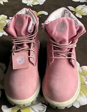 Timberland Boots Pink Leather  UK Size 4 Eur 36.5 In Great Condition