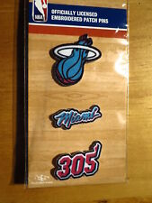 Official Licensed NBA Miami Heat Embroidered Patch Pins