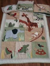 Baby Kidsline Nursery Zanzabar Jungle Wall Decor Monkey Nature Animals Green