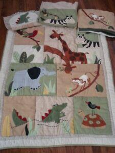 N111 Infant Baby Nursery Bedding Set Kids Line Zanzibar Safari Jungle Animals