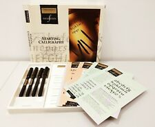 More details for osmiroid rare vintage calligraphy foundation 4 pen set black papers cards new