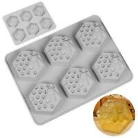 Honey Bee Silicone 6 Hole Mould Soap Resin Clay Wax DIY Handmade Craft Molds