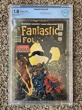 FANTASTIC FOUR #52 CBCS 1966 1ST BLACK PANTHER SILVER AGE KEY COMIC LOT CGC PGX