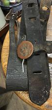 WWI US Calvary Horse Bridle & 2 Eagle E Pluribus Unum Rosettes All Original