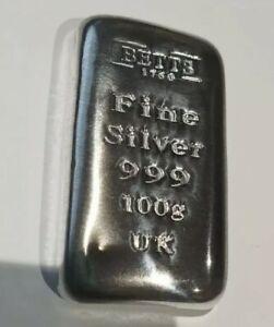 100g Silver bullion Bar Betts no2