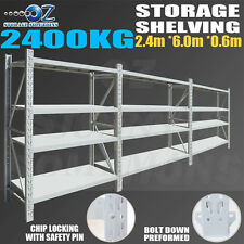 Garage Shelving Longspan Shelving Warehouse Metal Steel Rack 2.4M x 6.0M x 0.6M