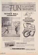 1959 Tether Ball & Horseshoes Seamless Rubber print ad