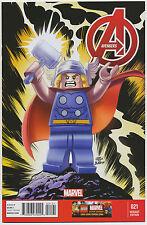 Avengers #21 LEGO variant Marvel comics 1:25 Leonel Castellani Thor Uncertified